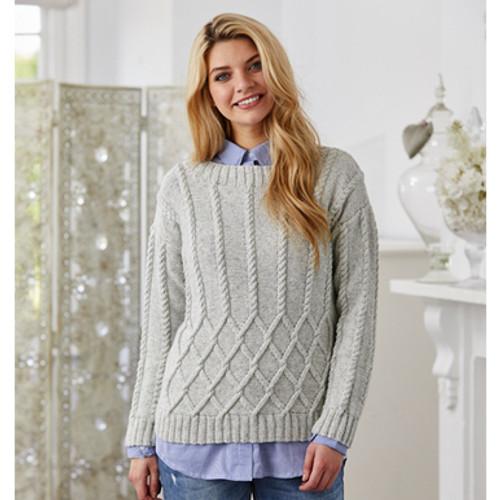 Stylecraft Pattern 9423 - Sweater and Shawl