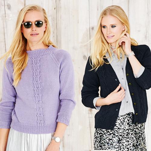Stylecraft Pattern 9495 - Sweater and Cardigan
