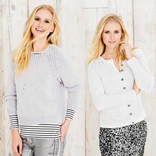 Stylecraft Pattern 9493 - Sweater and Cardigan