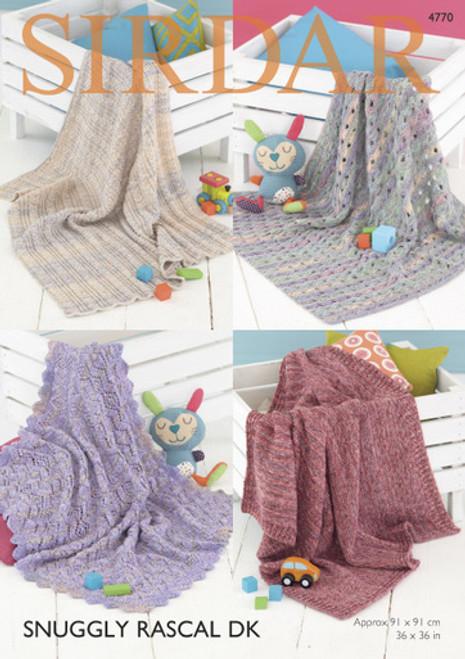 Sirdar Pattern 4770 - Blankets