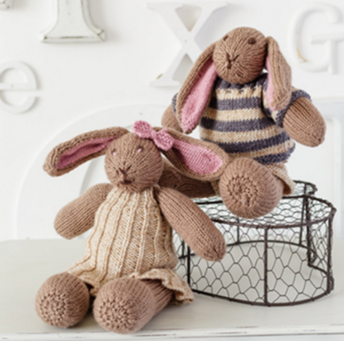 Stylecraft Pattern 9355 - Bunny Toys and Hat