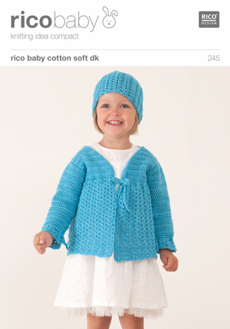 Rico Pattern 245 - Lacy Cardigan/Lacy Hat