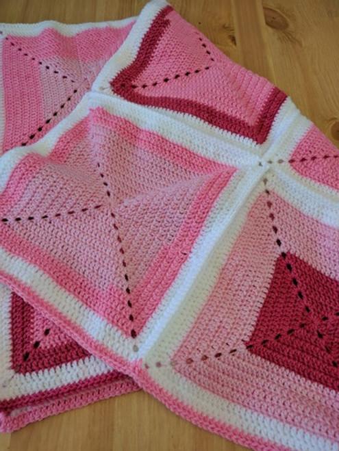 Woolfull Free Crochet Pattern - Strawberry Taffy Baby Blanket