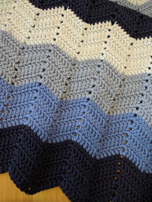Woolfull Free Crochet Pattern - Wibbly Wobbly Baby Blanket