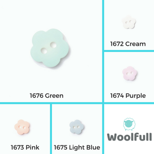 Small Pastel Flower Buttons