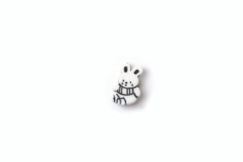 Cartoon Rabbit Button