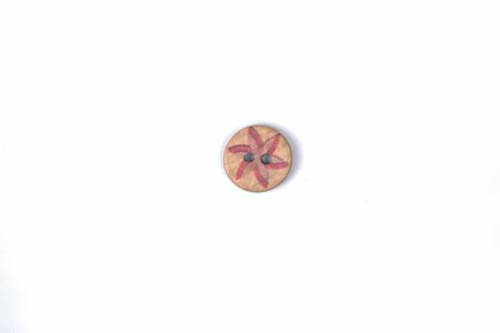 Wooden Star Button