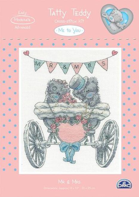DMC Cross-Stitch Kit - Tatty Teddy - Mr & Mrs (BL1082)