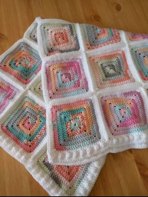 Woolfull Crochet Pattern - Baby Dreams Baby Blanket