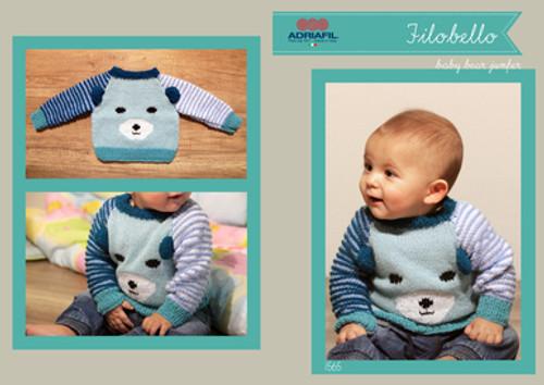 Adriafil Pattern 1565 - Baby Bear Jumper