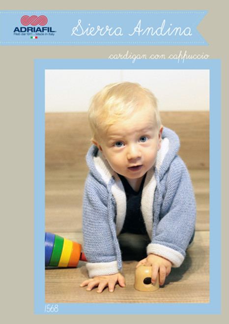 Adriafil Pattern 1568 - Baby Hooded Coat