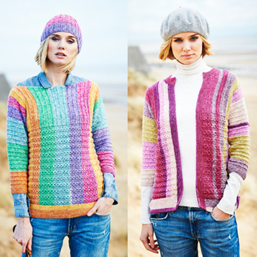 Stylecraft Pattern 9537 - Sweater, Cardigan and Hat