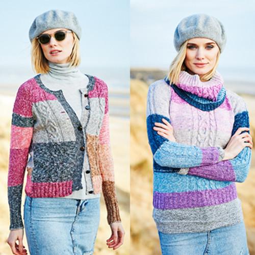 Stylecraft Pattern 9536 - Cardigan, Sweater and Cowl