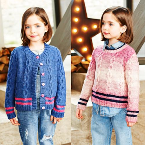 Stylecraft Pattern 9544 - Sweater and Cardigan