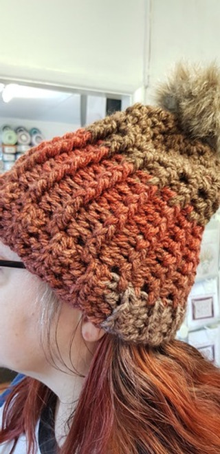 Woolfull Free Crochet Pattern - A Chill in the Air Hat