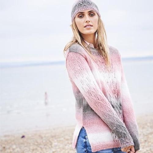 Stylecraft Pattern 9597 - Sweater, scarf and hat