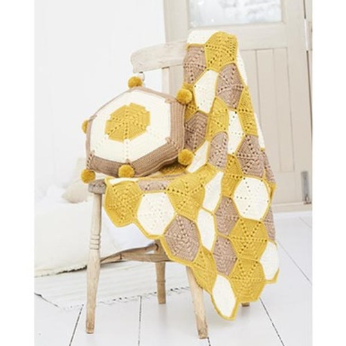Stylecraft Pattern 9614 - Blanket and Cushion