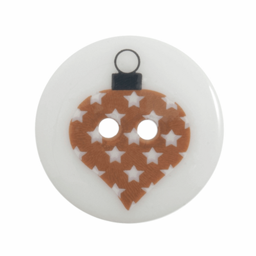 Christmas Button - Christmas Bauble