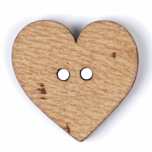 Wooden Heart-shaped Button