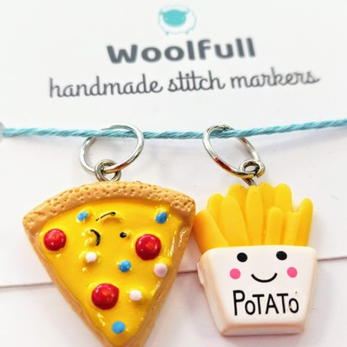 Handmade Stitch Markers - Pizza & Chips