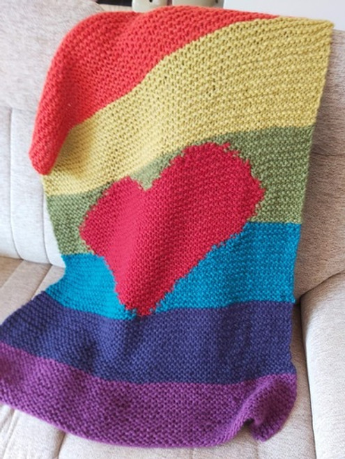 Woolfull Knitting Pattern - Rainbow Hugs