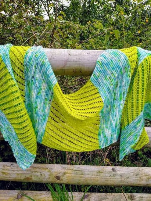 Woolfull Knitting Pattern - Cool & Breezy Shawl