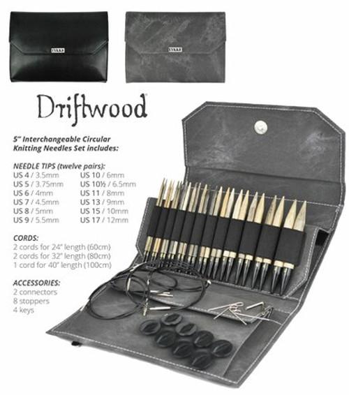 Lykke Interchangeable Knitting Needles Set - Driftwood