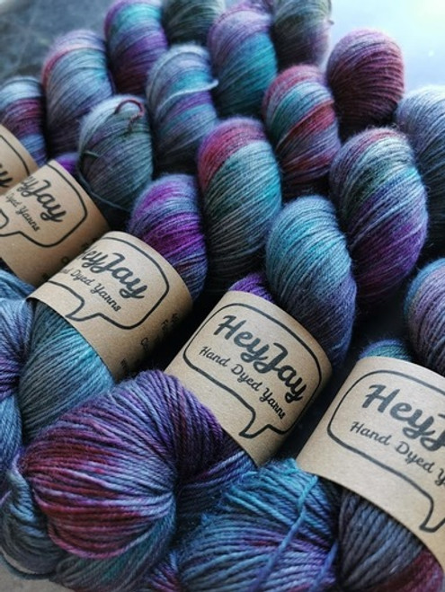 Romade Yarns - HeyJay Hand-Dyed Yarns Exclusive - Cloudy with a Chance of Revolution