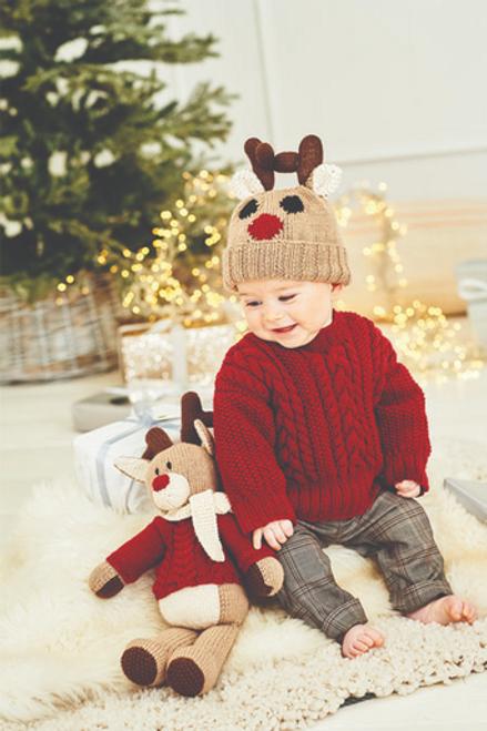 Stylecraft Pattern 9869 - Reindeer Sweater, Hat & Toy
