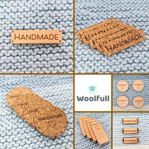Handmade Tags - Leather, Cork or Wood