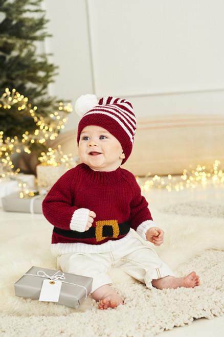Stylecraft Pattern 9870 - Santa Sweater, Hat & Toy