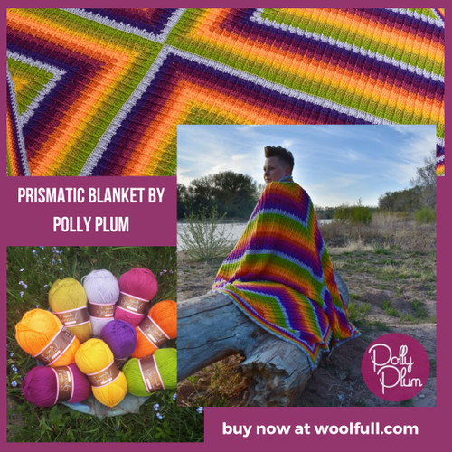 Prismatic Blanket by Polly Plum Yarn Pack