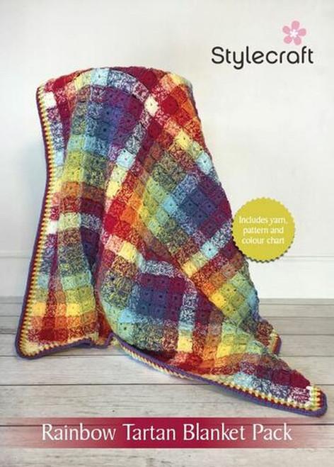 Stylecraft Tartan Blanket Yarn Pack - Rainbow Colourway