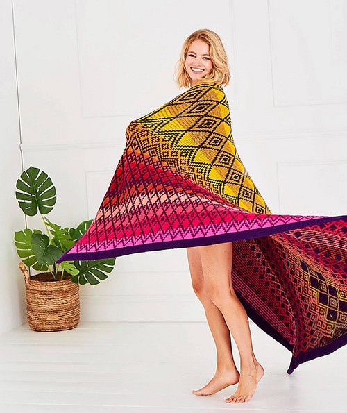 Queen Blanket - Tequila Sunrise Yarn Pack (Large)