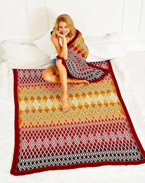 Queen Blanket - Ruby Yarn Pack (Large)
