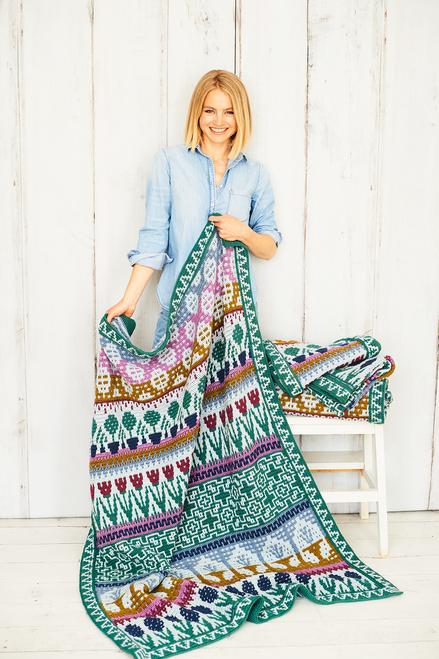 Letitia's Garden - Country Garden - Small Blanket Yarn Pack