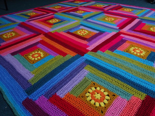 Attic24 Sunny Log Cabin Blanket - Yarn Pack