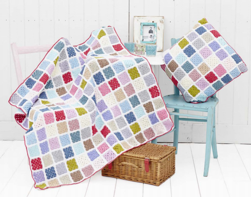 Candy Pop Blanket & Cushion - Yarn Pack