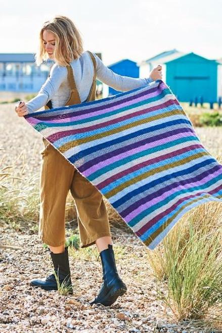 Stripey Garter Stitch Blanket - Yarn Pack
