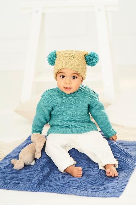 Stylecraft Pattern 9761 - Sweater, Hat and Blanket