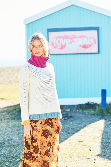 Stylecraft Pattern 9633 - Sweater and Scarf