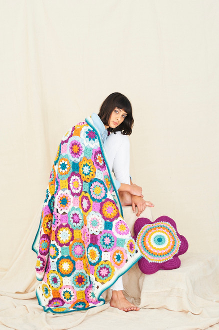 Playful Posy Blanket and Cushion - Yarn Pack