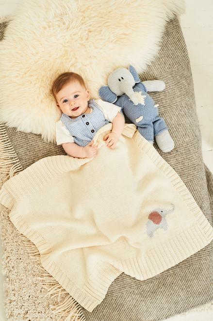 Stylecraft Pattern 9854 - Elephant Toys and Blanket