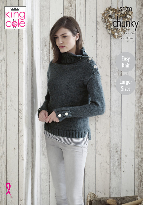 King Cole Pattern 5178 - Sweaters and Hat