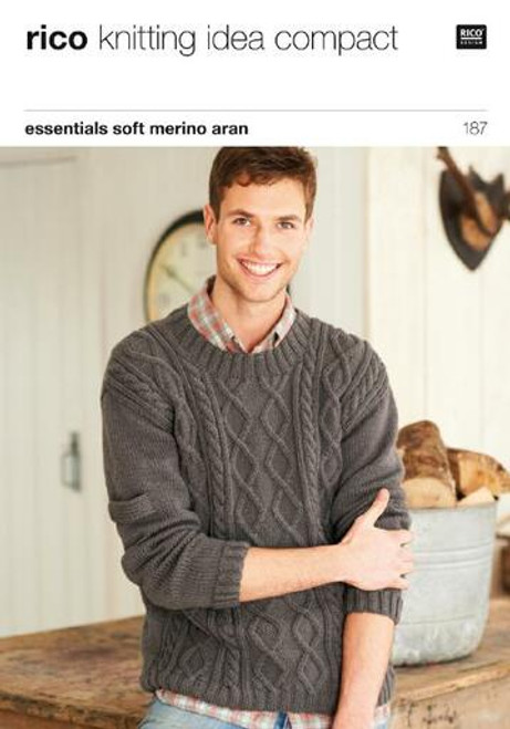Rico Pattern 187 - Round and Wrap-Necked Mens Sweaters