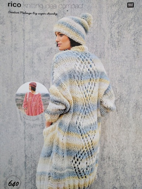 Rico Pattern 640 - Poncho, Coat and Hat