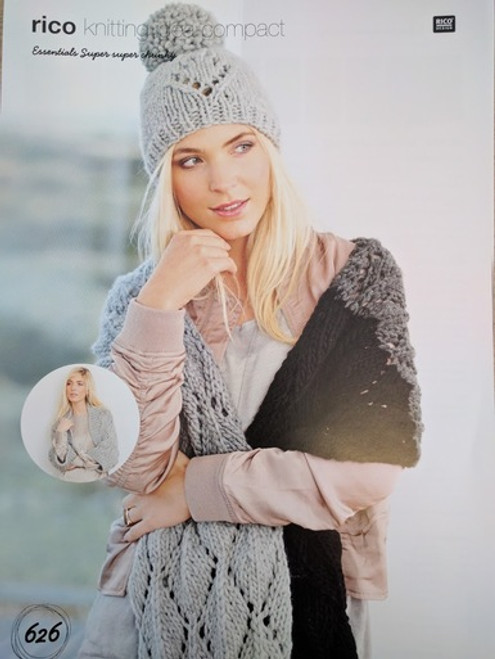 Rico Pattern 626 - Scarf, Shrug and Hat