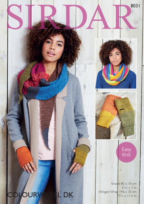 Sirdar Pattern 8031 - Snood, Winged Wrap and Mittens