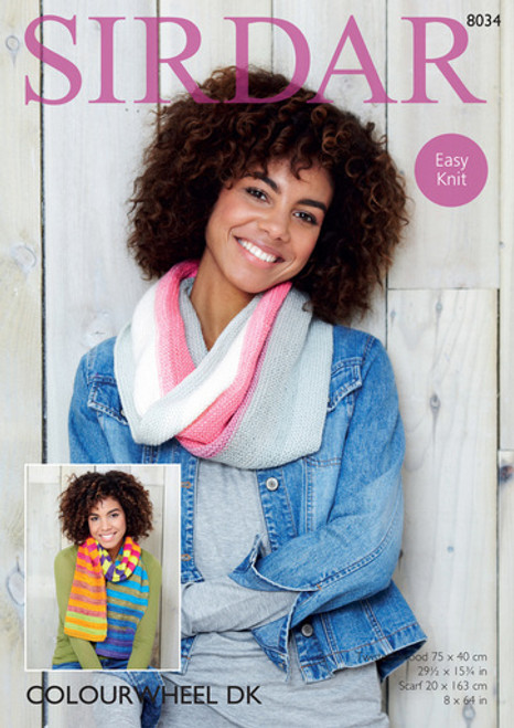 Sirdar Pattern 8034 - Twisted Snood and Scarf