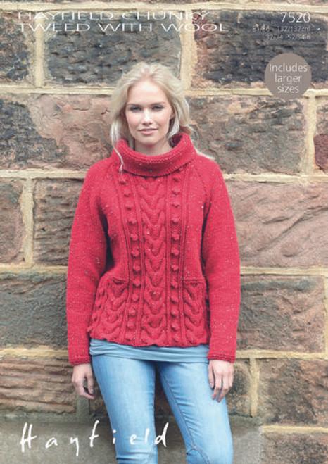 Hayfield Pattern 7520 - Sweater